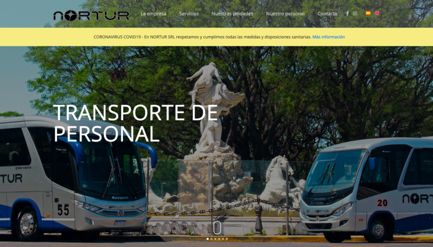 NorturEmpresa de transporte de personal www.nortur.com.ar